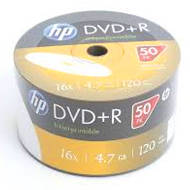 HP DVD+R | 4.7GB | x16 | WHITE FF InkJet Printable White | spindel 50 | HPP1650+