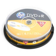 HP DVD+R | 4.7GB | x16 | cake 10 | HP1610+