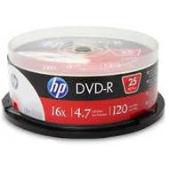 HP DVD-R | 4.7GB | x16 | cake 25 | HP1625-