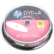 HP DVD+R | 8.5GB | x8 | WHITE FF InkJet Printable | cake 10 | HPDDP10+